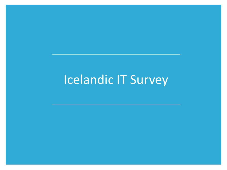 Icelandic IT Survey