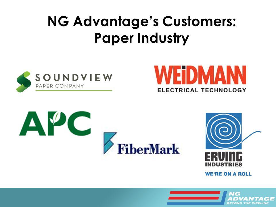 NG Advantage's Customers: Paper Industry