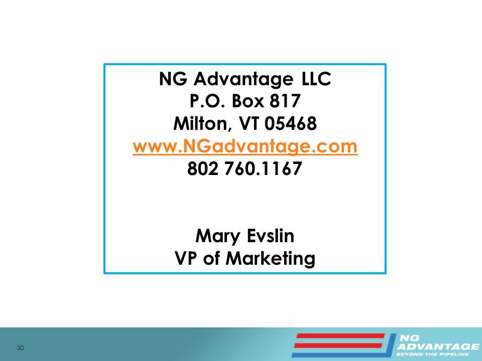 30 NG Advantage LLC P.O.
