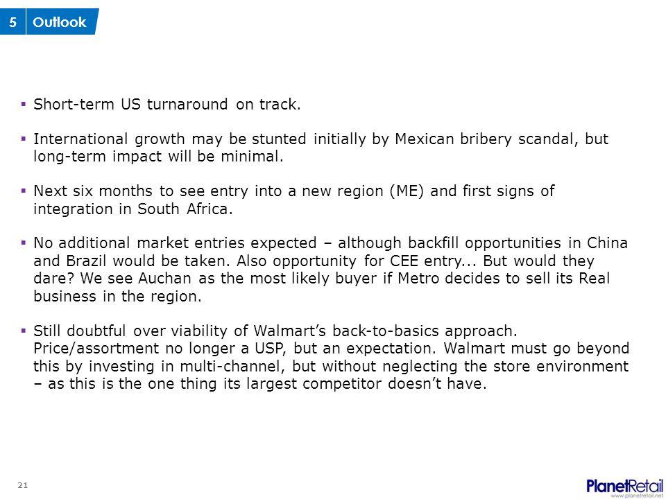 21  Short-term US turnaround on track.