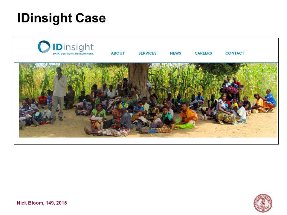 Nick Bloom, 149, 2015 IDinsight Case