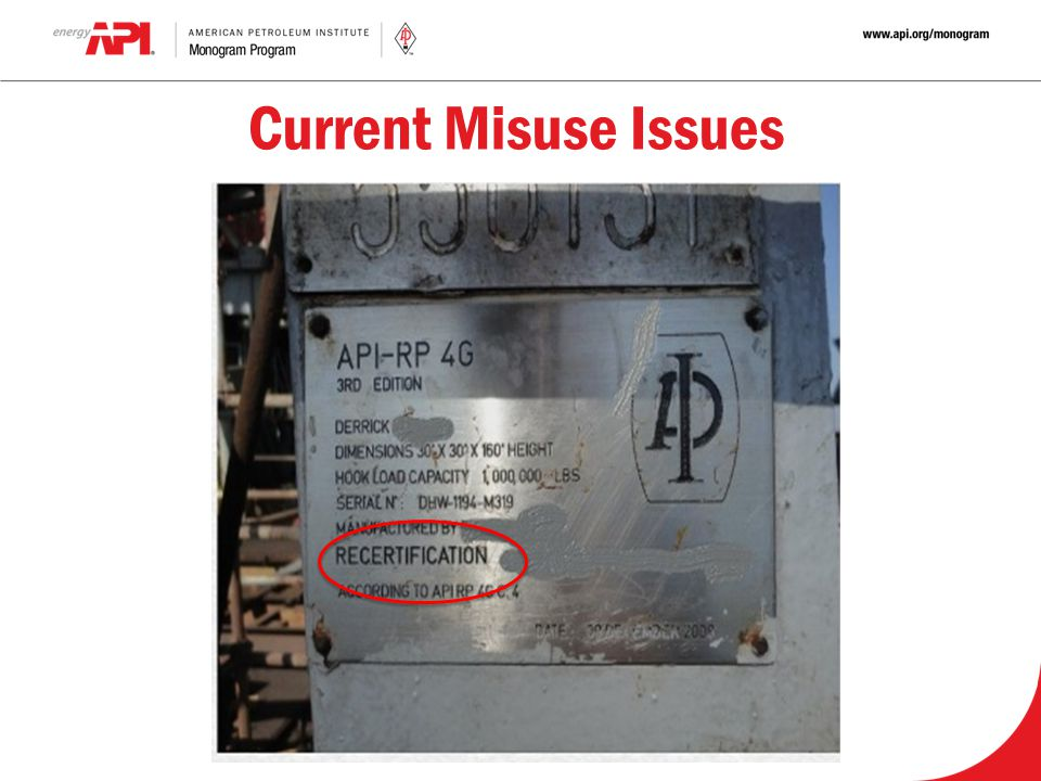 Current Misuse Issues