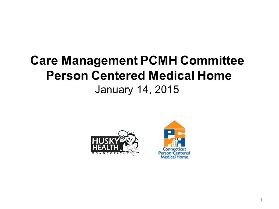 1 Care Management PCMH Committee Person Centered Medical Home January 14, 2015