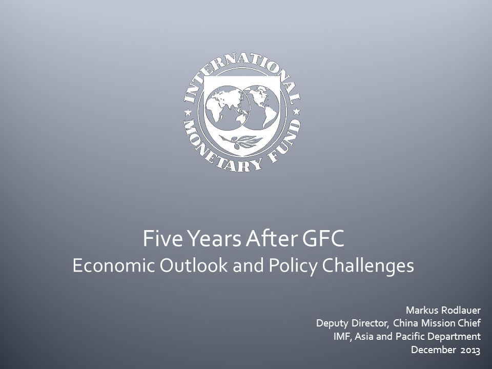  Global growth subdued and dynamics changing Slowdown in emerging markets Gradual pickup in advanced economies Downside risks continue to dominate  Economic policy agenda AEs: credible medium-term fiscal frameworks, repair financial systems, structural reforms (EU, Japan) EMs: prepare for monetary policy normalization, somewhat lower growth Asia: implement structural reforms to boost long-term growth (infrastructure, finance) 12