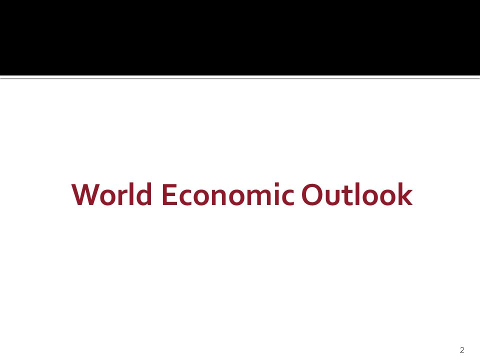 World Economic Outlook 2