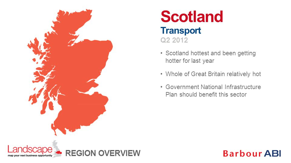 Scotland hottest and been getting hotter for last year Whole of Great Britain relatively hot Government National Infrastructure Plan should benefit th