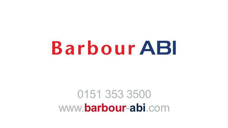 0151 353 3500 www.barbour-abi.com