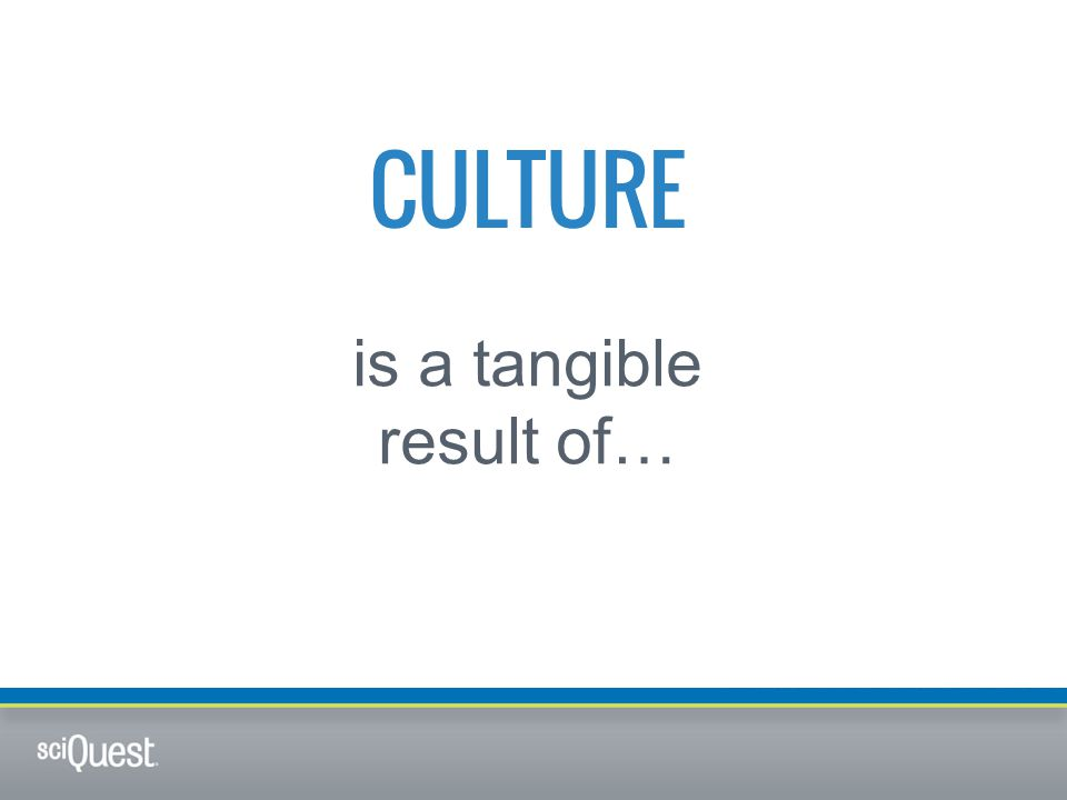 CULTURE is a tangible result of…