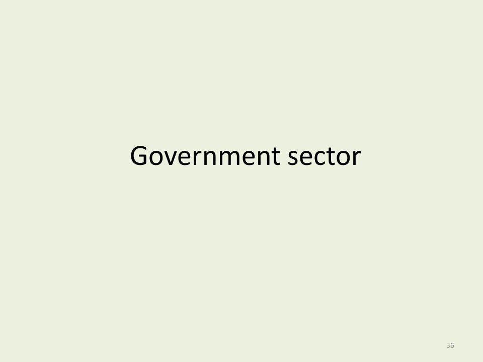 Government sector 36