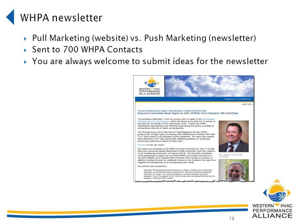 13  Pull Marketing (website) vs.