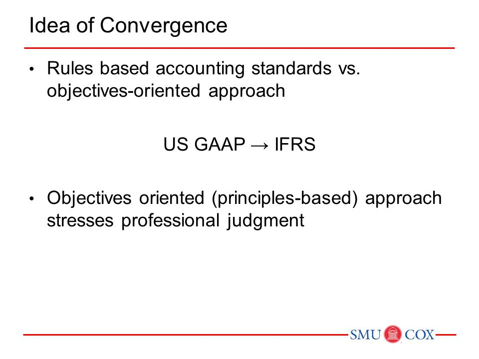 Rules based accounting standards vs.