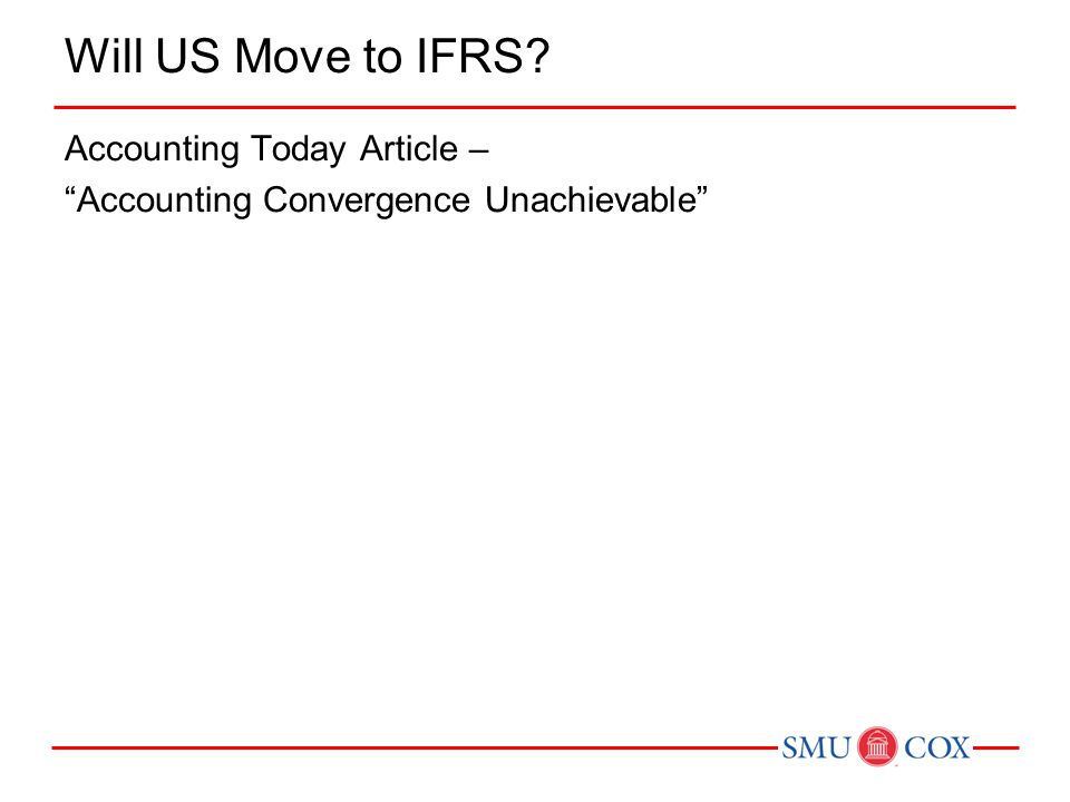 Will US Move to IFRS? Accounting Today Article – Accounting Convergence Unachievable