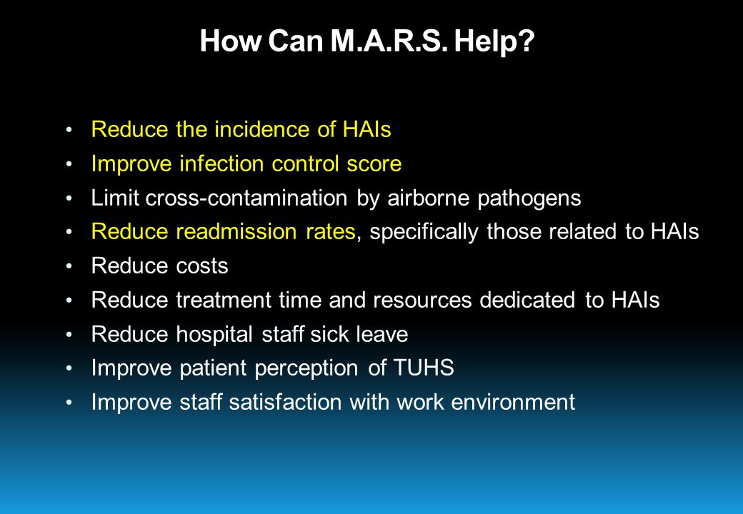 How Can M.A.R.S. Help.