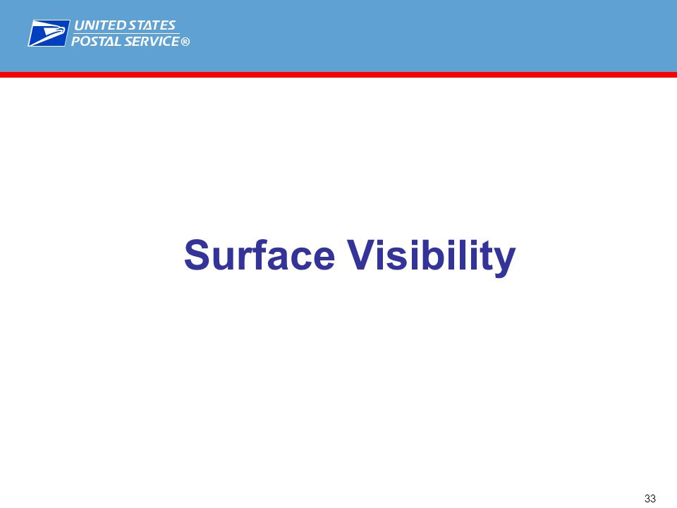 ® Surface Visibility 33