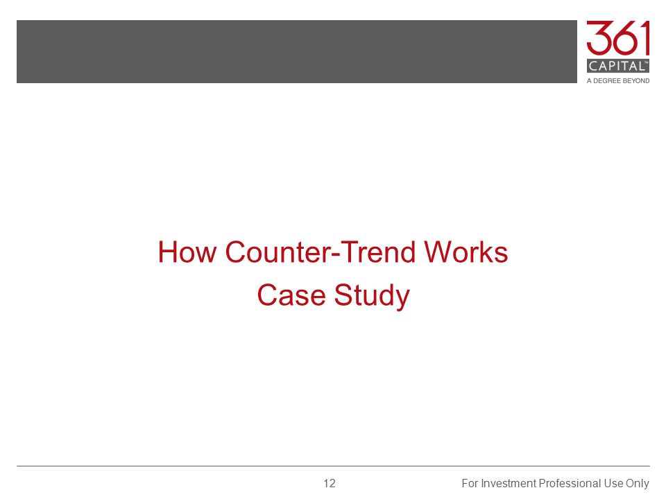 How Counter-Trend Works Case Study For Investment Professional Use Only12