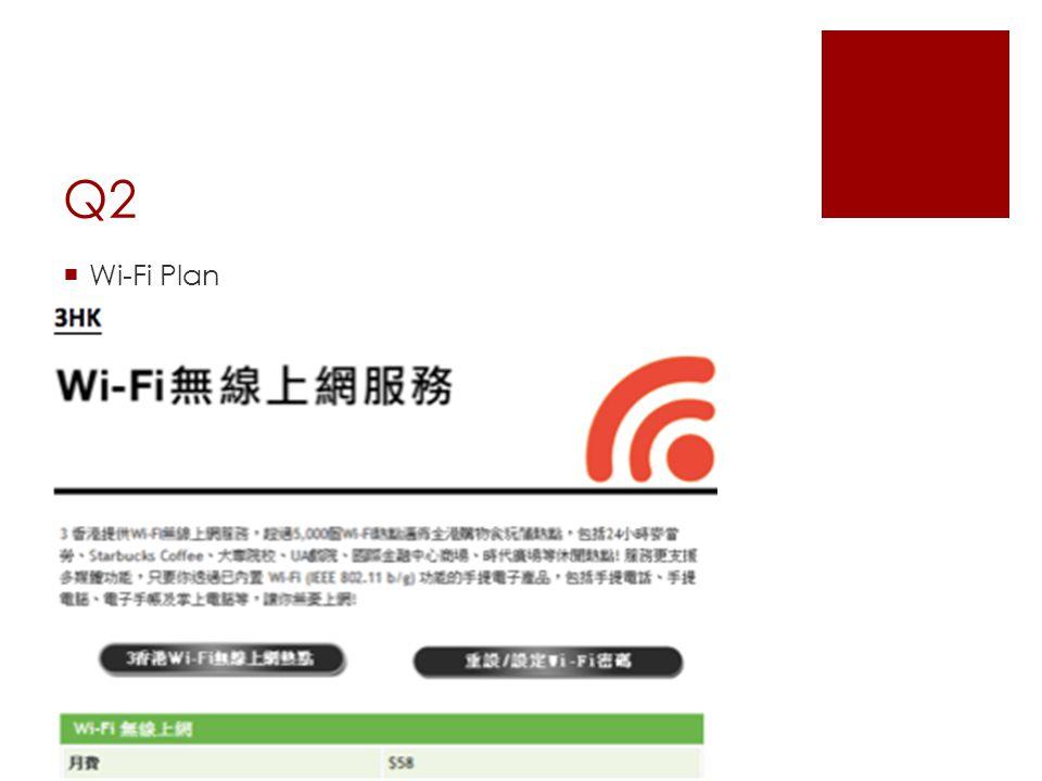 Q2  Wi-Fi Plan