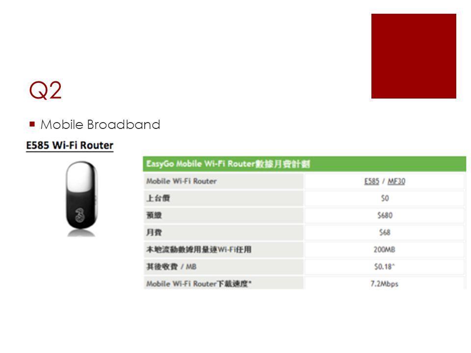 Q2  Mobile Broadband
