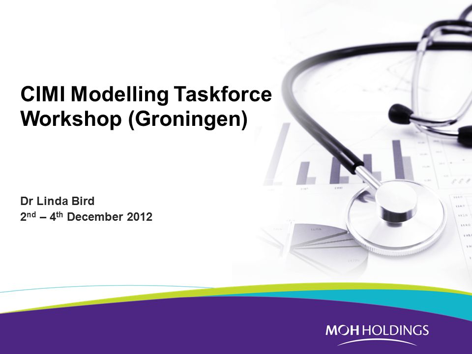 CIMI Modelling Taskforce Workshop (Groningen) Dr Linda Bird 2 nd – 4 th December 2012