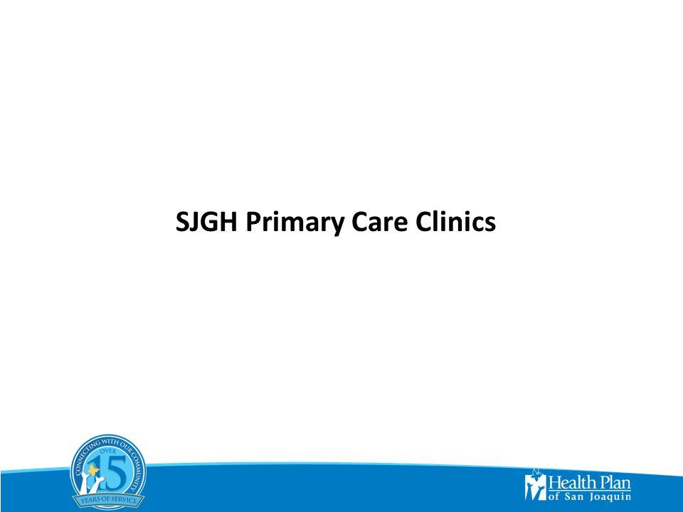SJGH Primary Care Clinics