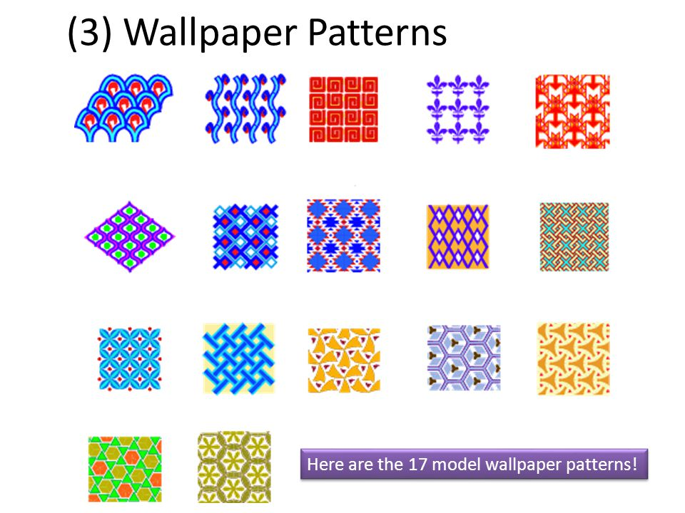 (3) Wallpaper Patterns Here are the 17 model wallpaper patterns!