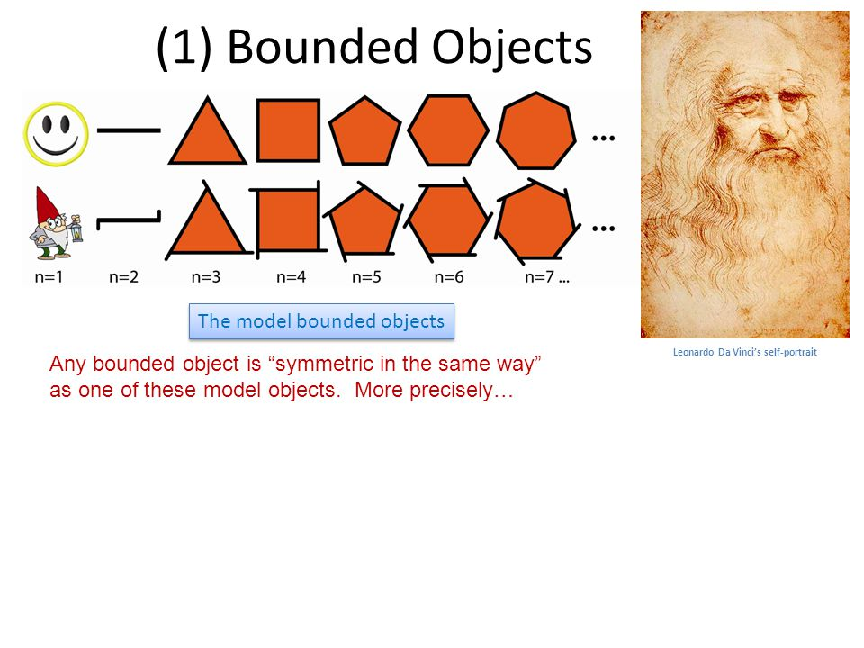 (1) Bounded Objects Any bounded object is symmetric in the same way as one of these model objects.