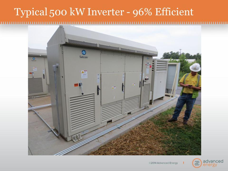 Typical 500 kW Inverter - 96% Efficient