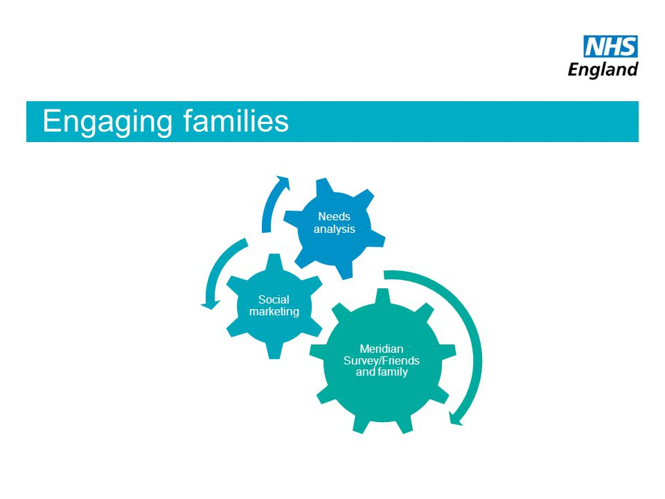 Engaging families Meridian Survey/Friends and family Social marketing Needs analysis