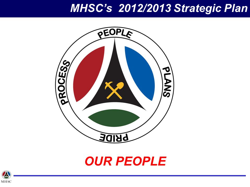 MHSC's 2012/2013 Strategic Plan OUR PEOPLE