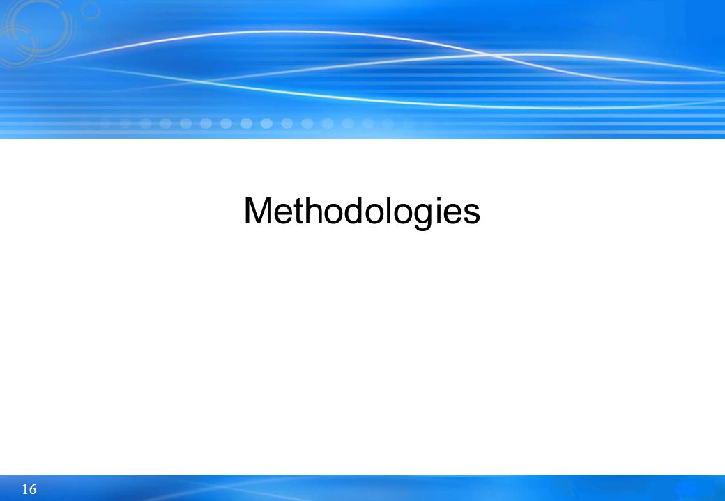 16 Methodologies