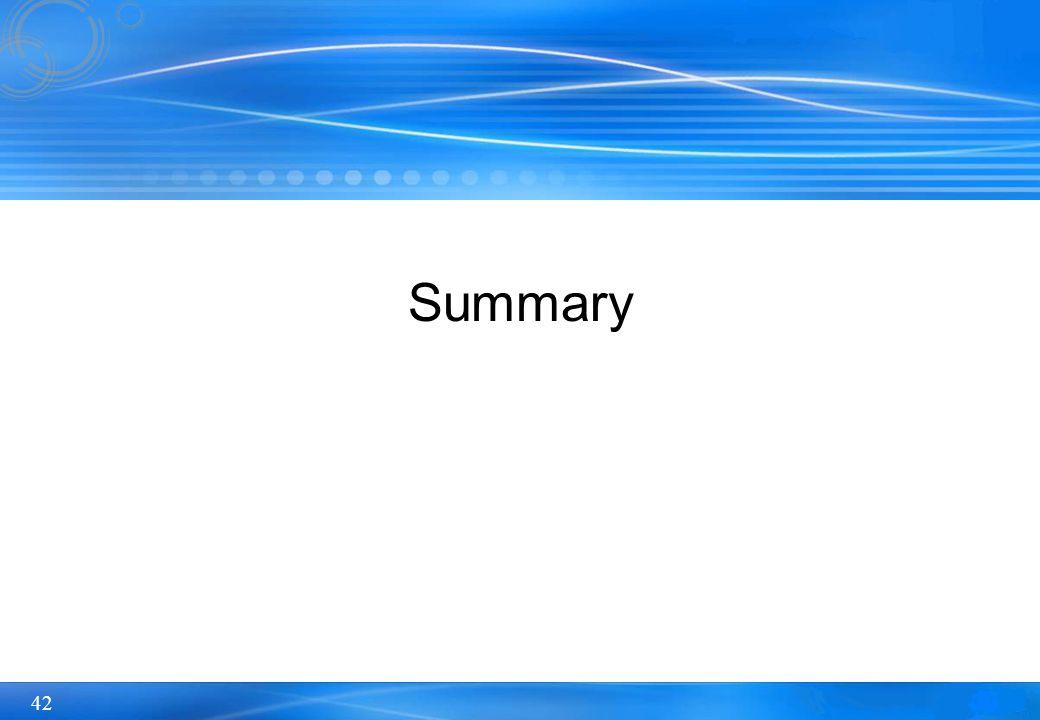 42 Summary
