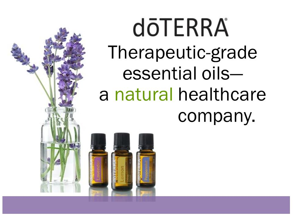 Therapeutic-grade essential oils— a natural healthcare company.