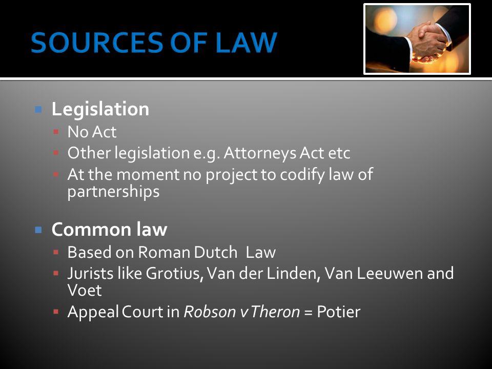  Legislation  No Act  Other legislation e.g.