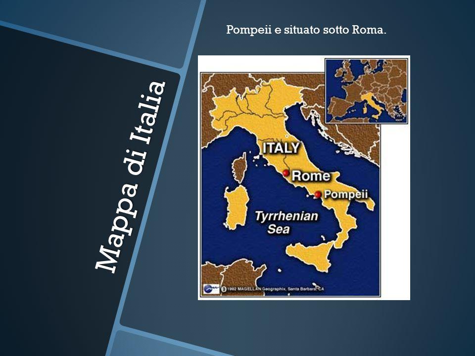 Mappa di Italia Pompeii e situato sotto Roma.