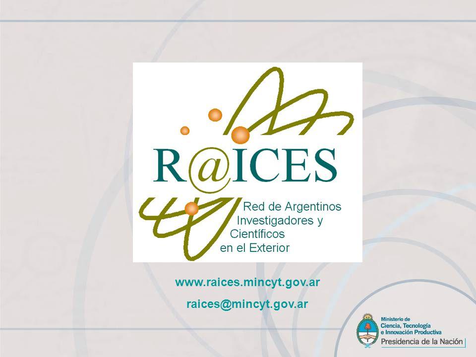www.raices.mincyt.gov.ar raices@mincyt.gov.ar