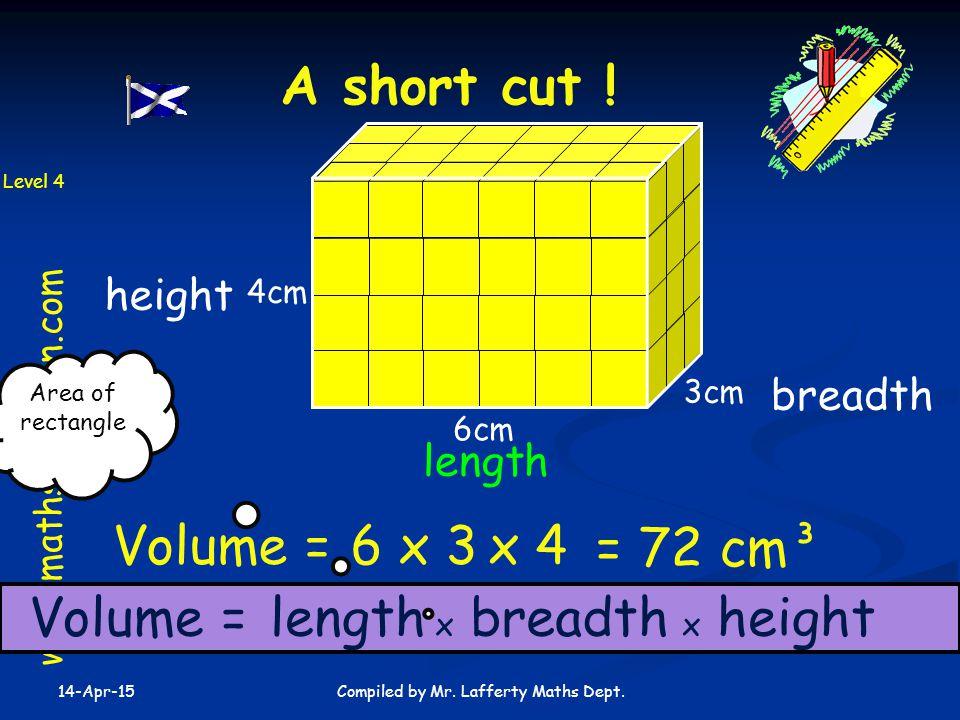 14-Apr-15 Compiled by Mr.Lafferty Maths Dept. A short cut .