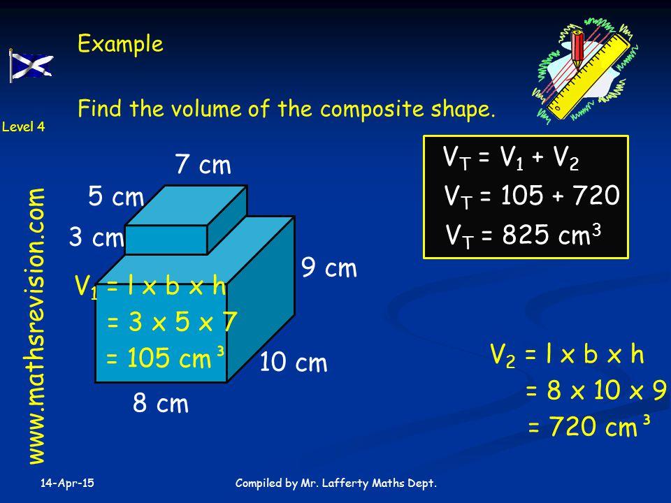10 cm 9 cm 8 cm 14-Apr-15 Compiled by Mr.Lafferty Maths Dept.