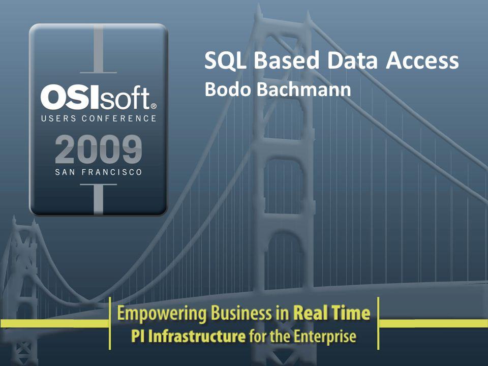 SQL Based Data Access Bodo Bachmann