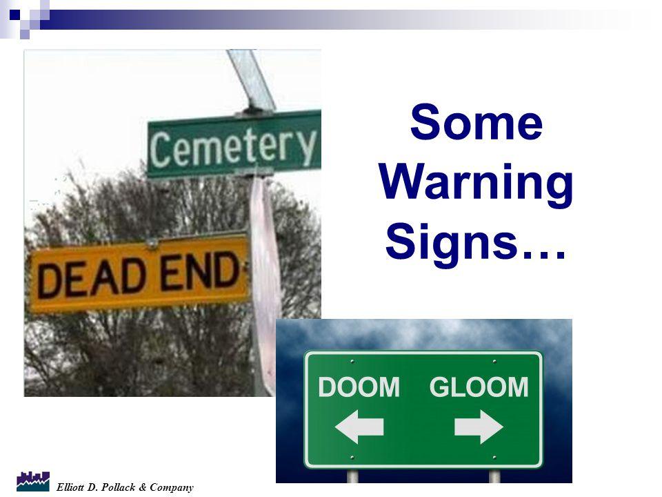 Elliott D. Pollack & Company Some Warning Signs…