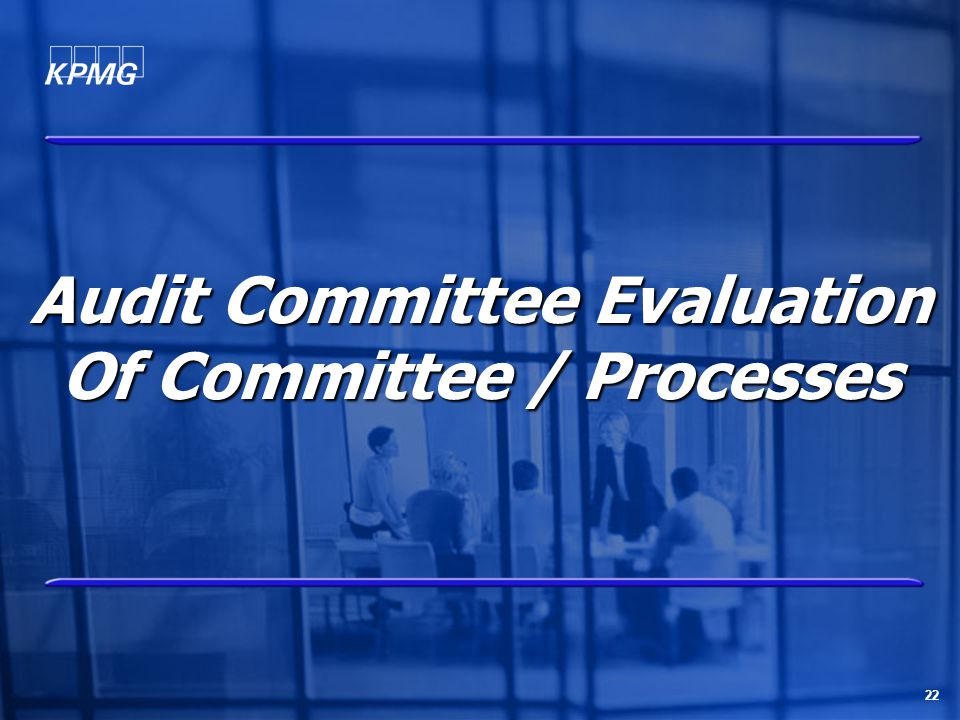 22 Audit Committee Evaluation Of Committee / Processes