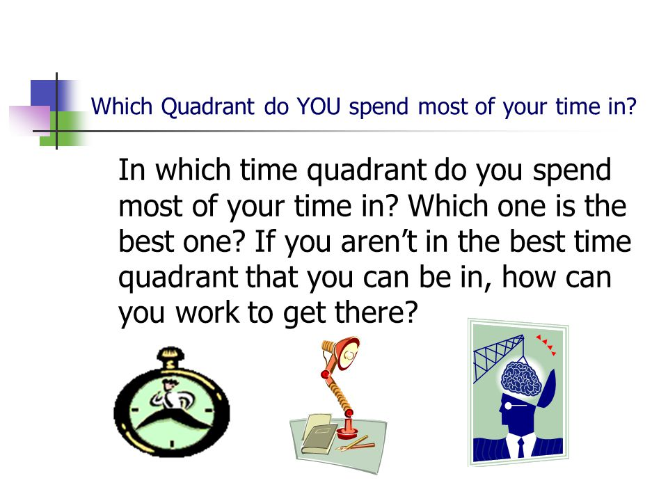 Which Quadrant do YOU spend most of your time in.