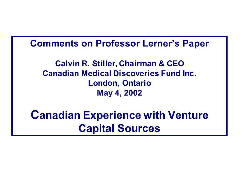 Comments on Professor Lerner's Paper Calvin R.
