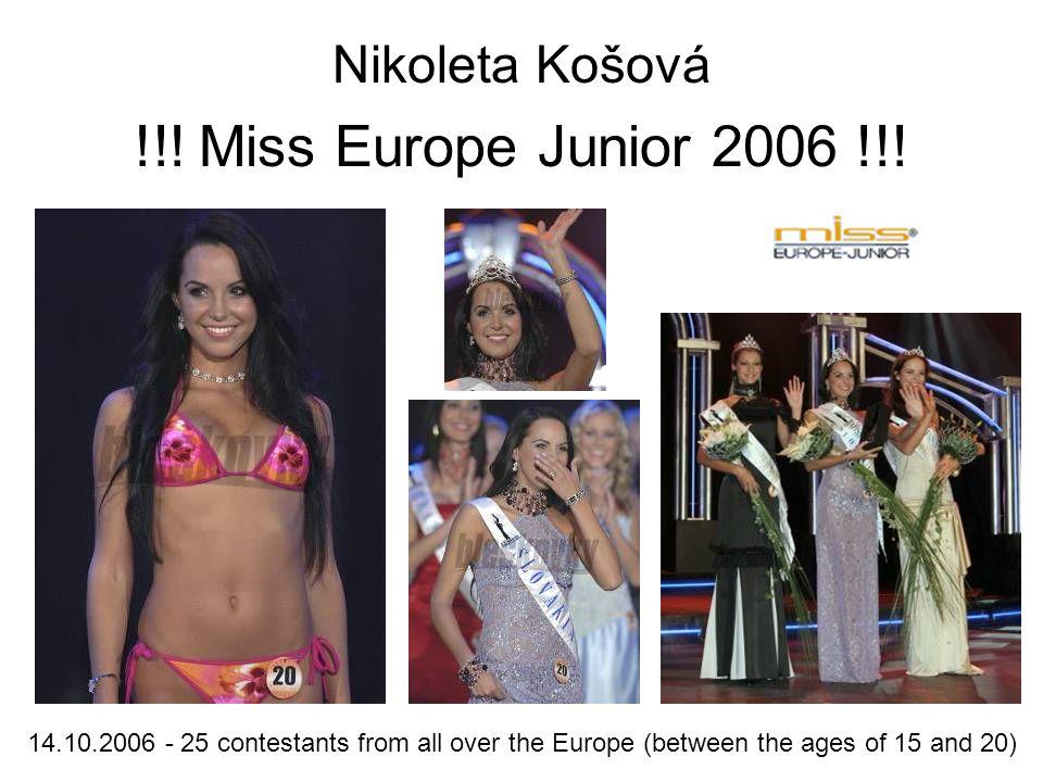 Nikoleta Košová !!. Miss Europe Junior 2006 !!.