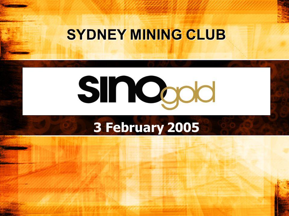 3 February 2005 SYDNEY MINING CLUB