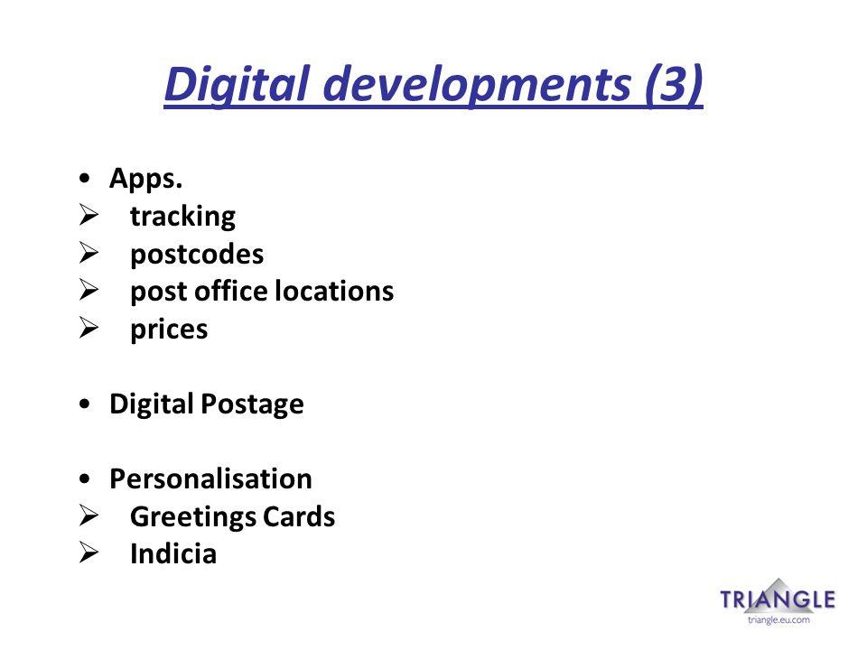 Digital developments (3) Apps.