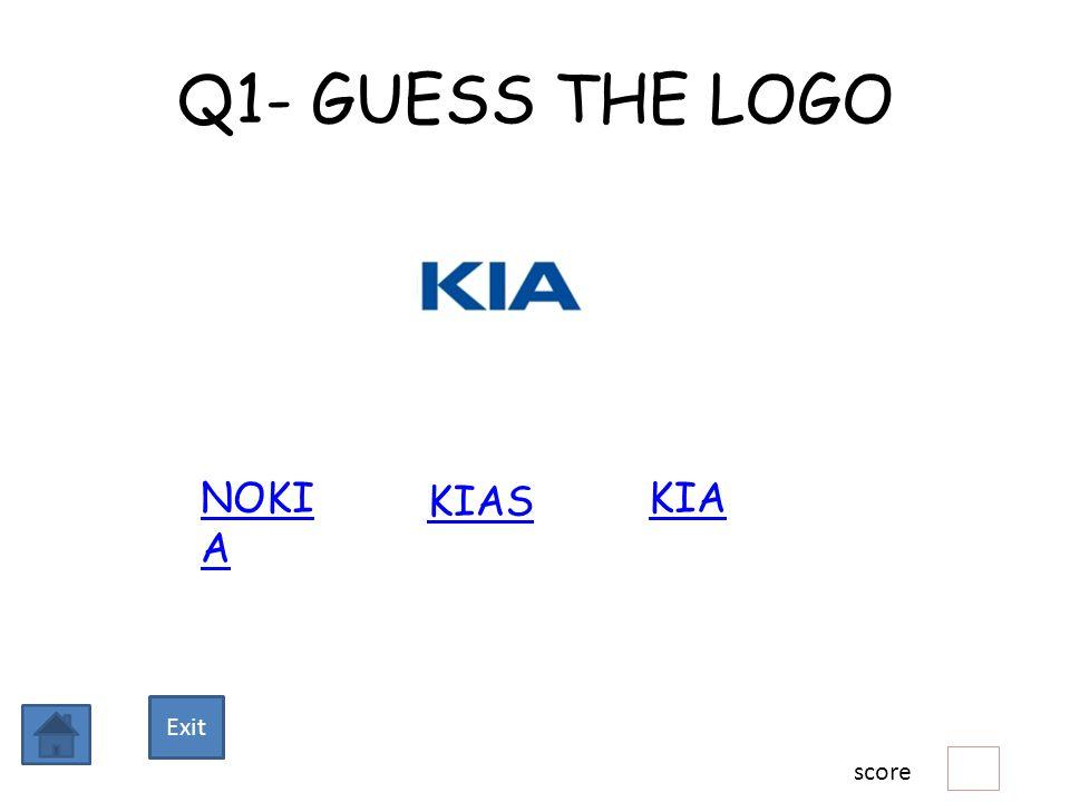 Q1- GUESS THE LOGO NOKI A KIAS KIA score Exit