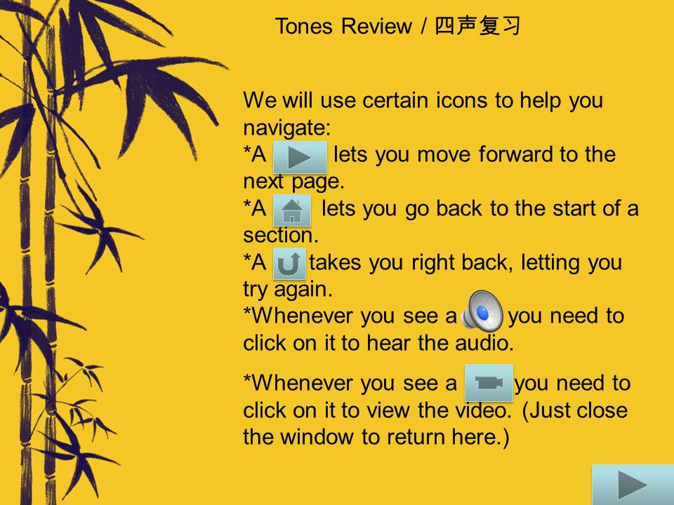 Tones Review / 四声复习 Sometimes we have a string of tones together.