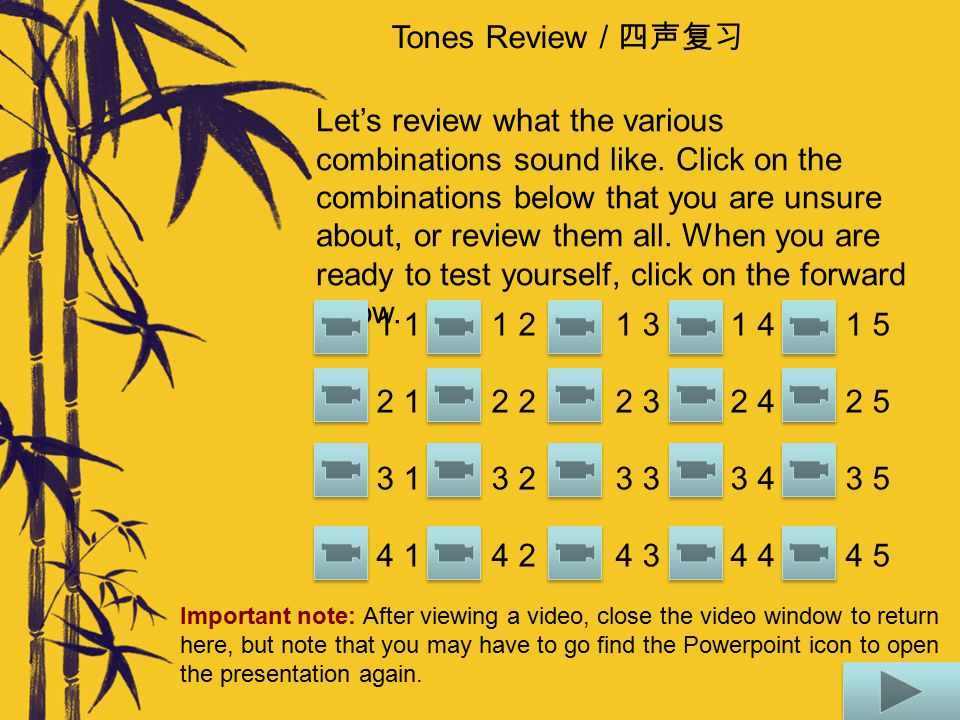 Tones Review / 四声复习 Rules: When 一 yī is followed by a fourth tone, it changes to second tone. When 一 yī is followed by a first, second, or third tone,