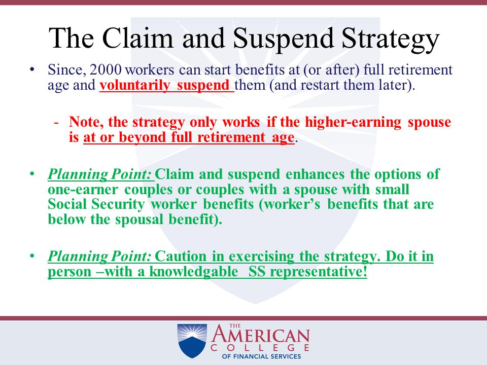 Claim Now, Claim More Later Bob, age 70, delayed filing for Social Security retirement benefits to take advantage of delayed credits.