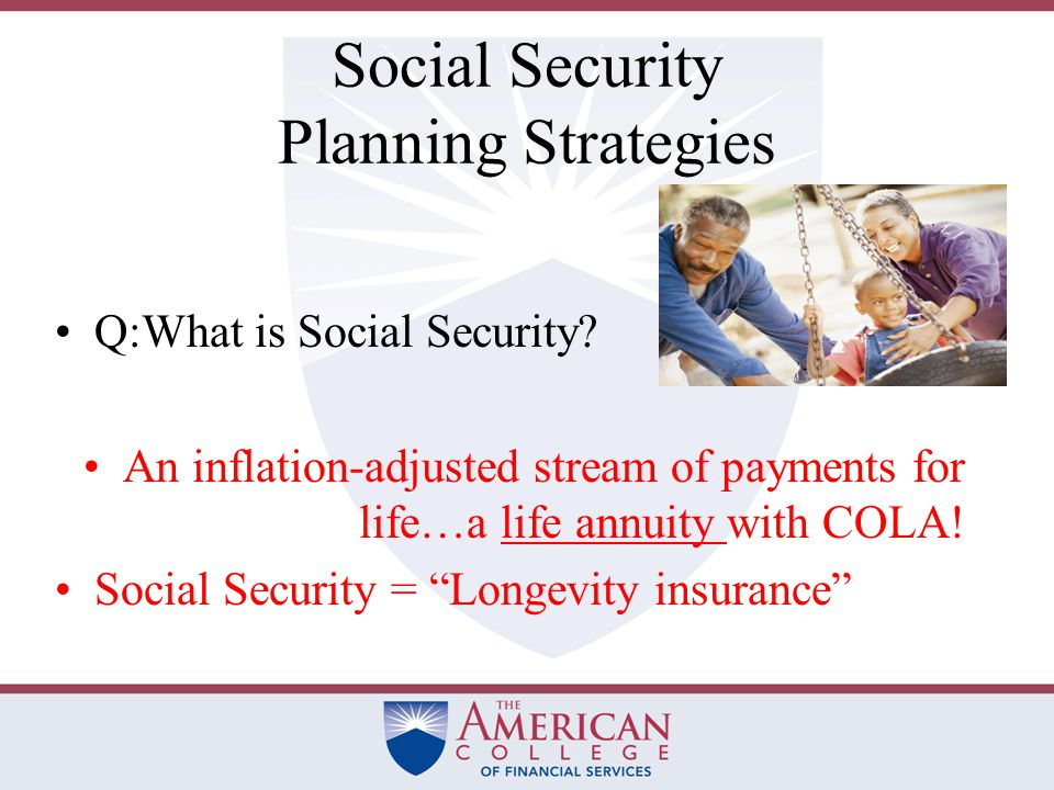Insurance Against Longevity Risk The period between the discontinuance of a paycheck and the commencement of Social Security is sometimes called the bridge period.