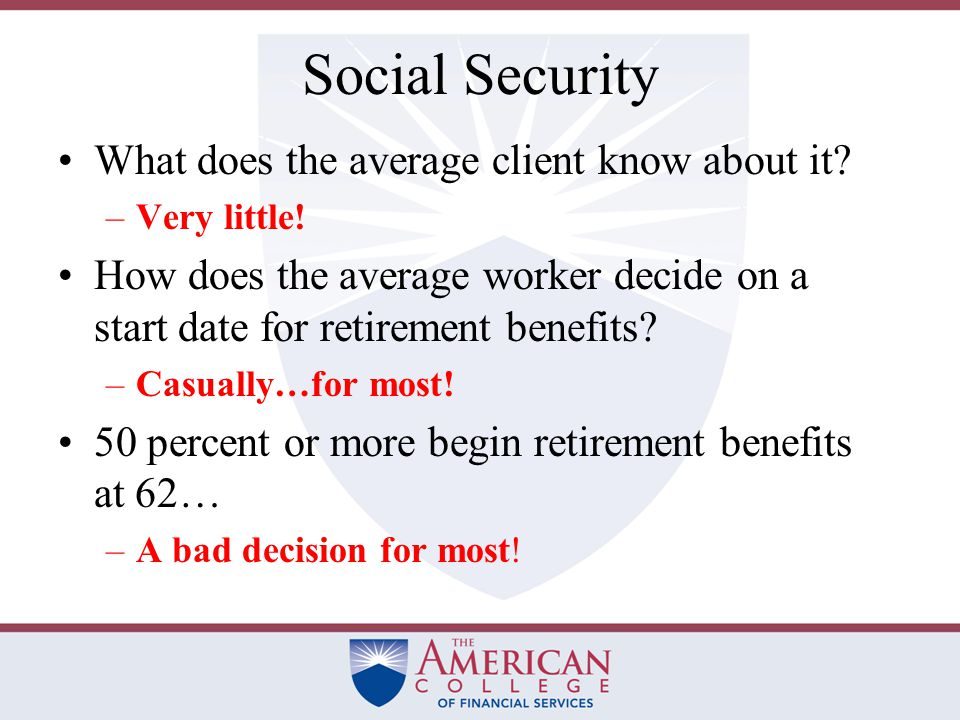 Reasons to Delay Social Security There is a snowballing effect on delaying S-S benefits because of both the actuarial increases and the compounding of COLA increases.